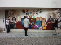 Einweihungsfeier des Stavenhagener Wandbildes