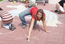 Straßenmalerei mit der UNESCO & dm